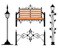 Wrought iron vintage signs and decor elements Stock Image