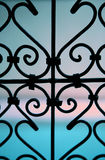 Wrought iron window Royalty Free Stock Images