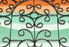 Wrought iron window Royalty Free Stock Photography