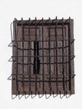 Wrought Iron Window and Grill. Wrought Iron Grill or bars on Window in village in Andalucia Stock Photo