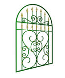 Wrought iron window grille. With spearheads stock illustration