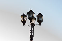 Wrought lamppost. Wrought of metal lamp post Royalty Free Stock Photo