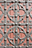 Wrought ornament on the gate Stock Images