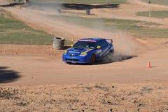WRX Track Day. Pignose Subaru WRX on gravel track at Track Day Event Stock Photos