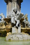 Würzburg, Germany - Detail view of the fountain in front of the Residence Royalty Free Stock Photo