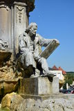 Würzburg, Germany - Detail view of the fountain in front of the Residence Stock Photography