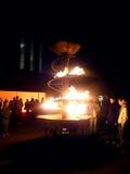 wrzesień ogień 8 2009 ogrodowy London Wrzesień Obrazy Royalty Free