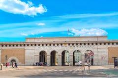 Wrzesień 2017 Wiedeń, Austria - wejściowa brama kompleks Hofburg Fotografia Stock