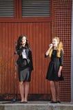 Wrzesień 1, wiedza dzień w rosjanin szkole Dzień wiedza pierwszy dzień szkoły Zdjęcia Stock