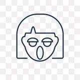 Wrzeszczący wektorową ikonę odizolowywającą na przejrzystym tle, liniowy Y ilustracji