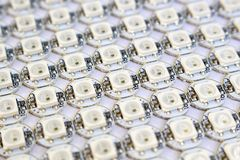 Ws2812b led rgb diodes matrix royalty free stock photo