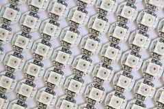 Ws2812b ledde diodsmatrisen Arkivbild