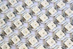 Ws2812b a mené la matrice de diodes photo stock