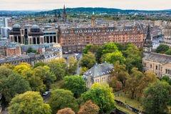 Ws-sikt av Edinburg från slotten Arkivbilder