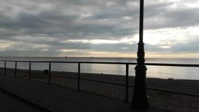 Sunrise on the Gdansk Bay stock photo