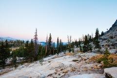 Wschód słońca łąki półmrok Fotografia Royalty Free