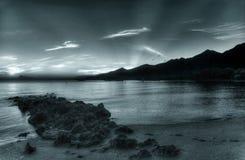 wschód słońca świateł mijania zdjęcia stock