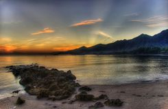 wschód słońca świateł mijania zdjęcie stock