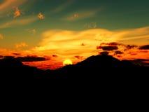 Wschód słońca 10 Fotografia Royalty Free
