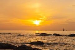 Wschód słońca. Obrazy Royalty Free