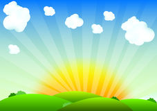 Wschód słońca ilustracji