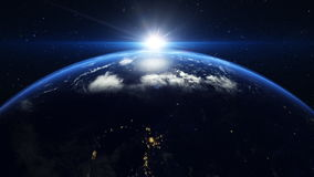 Wschód słońca above ziemia zbiory wideo