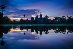 Wschód słońca Angkor Wat Fotografia Royalty Free