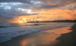 Wschód słońca, Cabarete, Republika Dominikańska obrazy stock