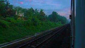 Wschód słońca czasu podróż na pociągu zbiory wideo