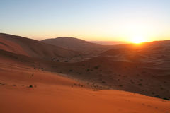 wschód słońca desert Obrazy Royalty Free