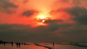 Wschód słońca Digha Zachodni Bengalia Zdjęcie Royalty Free