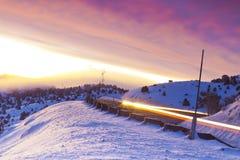 Wschód słońca Dojeżdżać do pracy Zdjęcia Royalty Free