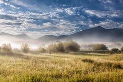 Wschód słońca dolina Zdjęcie Stock