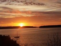 Wschód słońca eastend Portland Maine zdjęcia royalty free