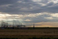 wschód słońca elektryczne Obraz Stock