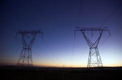 wschód słońca elektryczne Zdjęcia Royalty Free