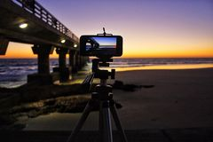 Wschód słońca fotografia Obraz Stock