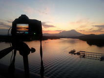 Wschód słońca góra Kinabalu Zdjęcie Royalty Free