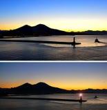 Wschód słońca góra Vesuvius Obraz Royalty Free