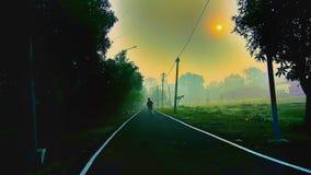 Wschód słońca i ścieżka fotografia royalty free