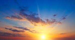 Wschód słońca i chmurny niebo Zdjęcie Royalty Free