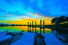 Wschód słońca I Holu Krzesła Fotografia Stock