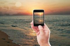 Wschód słońca i morze Zdjęcie Royalty Free
