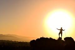 Wschód słońca i pokojowy dzień obrazy stock