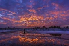 Wschód słońca i reflextion zdjęcie stock