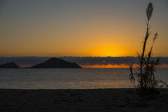 Wschód słońca Isola dell Ogliastra, Sardinia obrazy royalty free