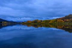 Wschód słońca jesieni odbicie w Tetons Obrazy Royalty Free