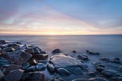 Wschód słońca jeziora przełożony Zdjęcia Royalty Free