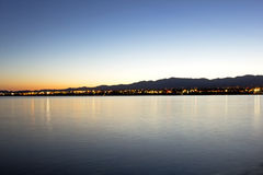 Wschód słońca jezioro Havasu zdjęcia stock