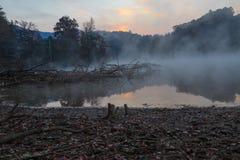 Wschód słońca jezioro Santeetlah Obraz Royalty Free